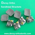 Sandblast Bracket Dental Braces Orthodontic materials