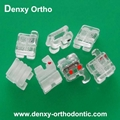 Orthodontic Aesthestic Bracket Clear bracket Single crystal bracket Ceramic