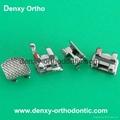 Dental vertical braces V-slot bracket