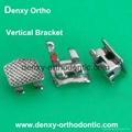 Dental vertical braces V-slot bracket orthodontic vertical bracket