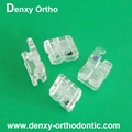 Dental brackets Dental clear braces sapphire brackets