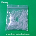 Gray/Clear 2 Colors Dental Products Orthodontic Elastic Rotation wedges