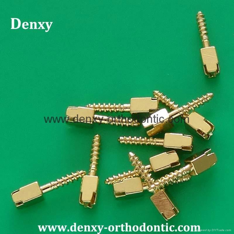 CNC turning machine stainless steel/titanium dental screw  5