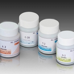 Dental glaze powder mixing metal ceramic glaze powder