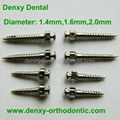 Dental mini implant orthodontic screw system