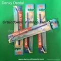 Orthodontic brushes Orthodontic V shape tooth brush dental teeth brushes