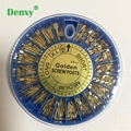 Golden Screw Post 240pcs&2Key Dental Dentist Conical Screw post Gold Plated Tape