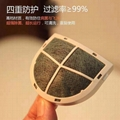 Denxy Rechargeable mask Anti virus anti flu face mask fine air filter with Filte