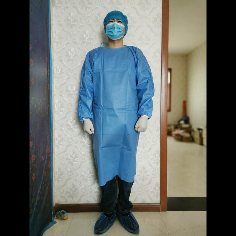 disposable nonwoven reinforced sterile medical supplies surgical gown