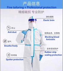 Medical  Isolation Gown Disposable Coverall Nonwoven SMS Virus Protection Suit