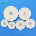 Dental White Cloth Round Flannel Wheel Dental lab denture cloth polishing wheel
