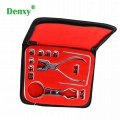 Dental Rubber Dam Perforator Puncher Kit Pure Latex Dental Rubber Dam kit Templa