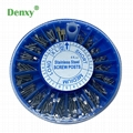 Dental Stainless Steel Screw Post 240pcs&2Key Dental Dentist Conical Screw post