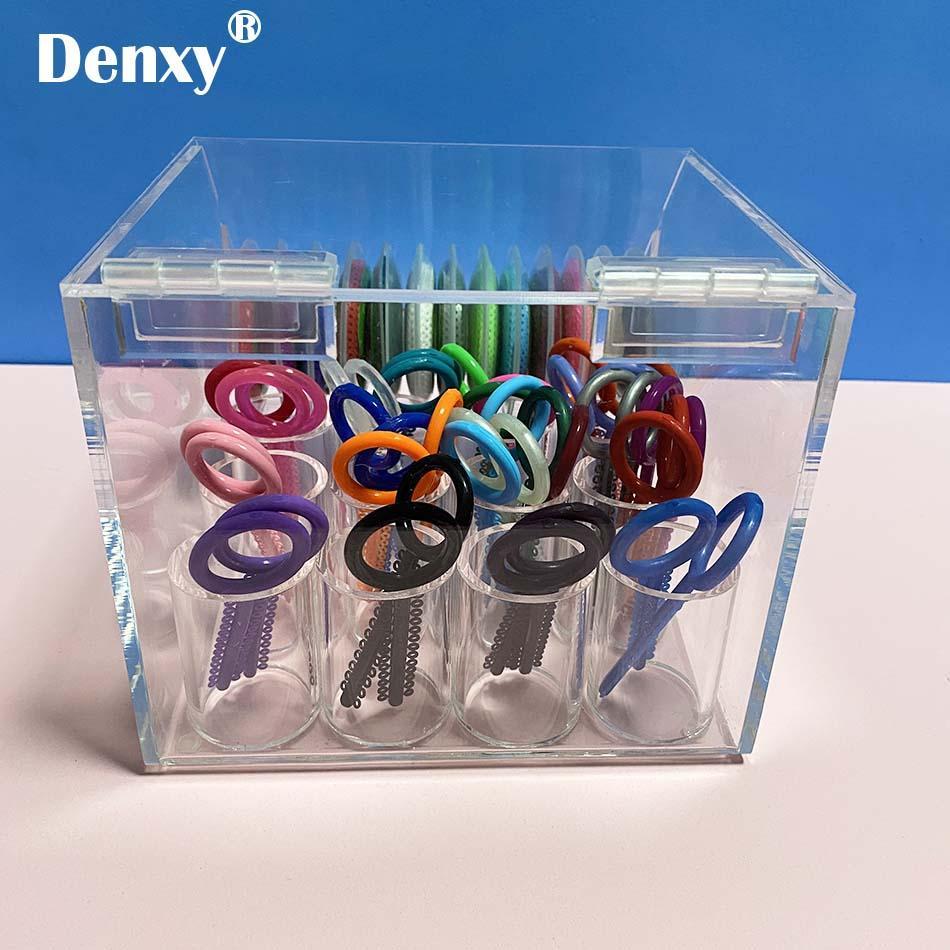 Dental Orthodontic ligature tie Acrylic Dispenser Elastic chain Placing Box Powe 2