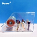 Dental Orthodontic ligature tie Acrylic Dispenser Elastic chain Placing Box Powe 4