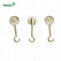 Dental Orthodontic Bondable Crimpable Hook buttons Sliding hook lingual buttons