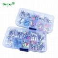 Dental Lab Latch Flat Polishing Prophy Brushes Cups Mixed Polish Polisher Dental