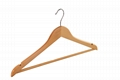 China wooden cloth hanger top hangers with high quality hard wood hangers  5