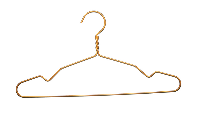 PVC metal hangers with high quality wire hangers for shop  2