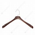 Hard wood suit hangers with high quality hard wooden hangers  4