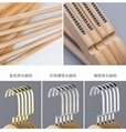 China factory wooden hanger natural wood maple wood  with hard wood hangers  3