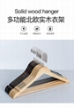 China factory wooden hanger natural wood maple wood  with hard wood hangers  4
