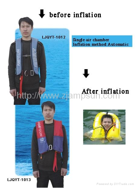 Inflatable lifejacket(Yoke-Type) 1012 1013 1
