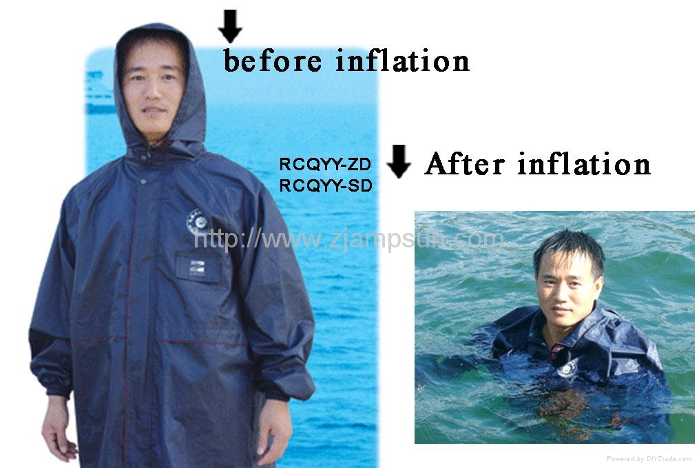 Inflatable two functional Raincoat