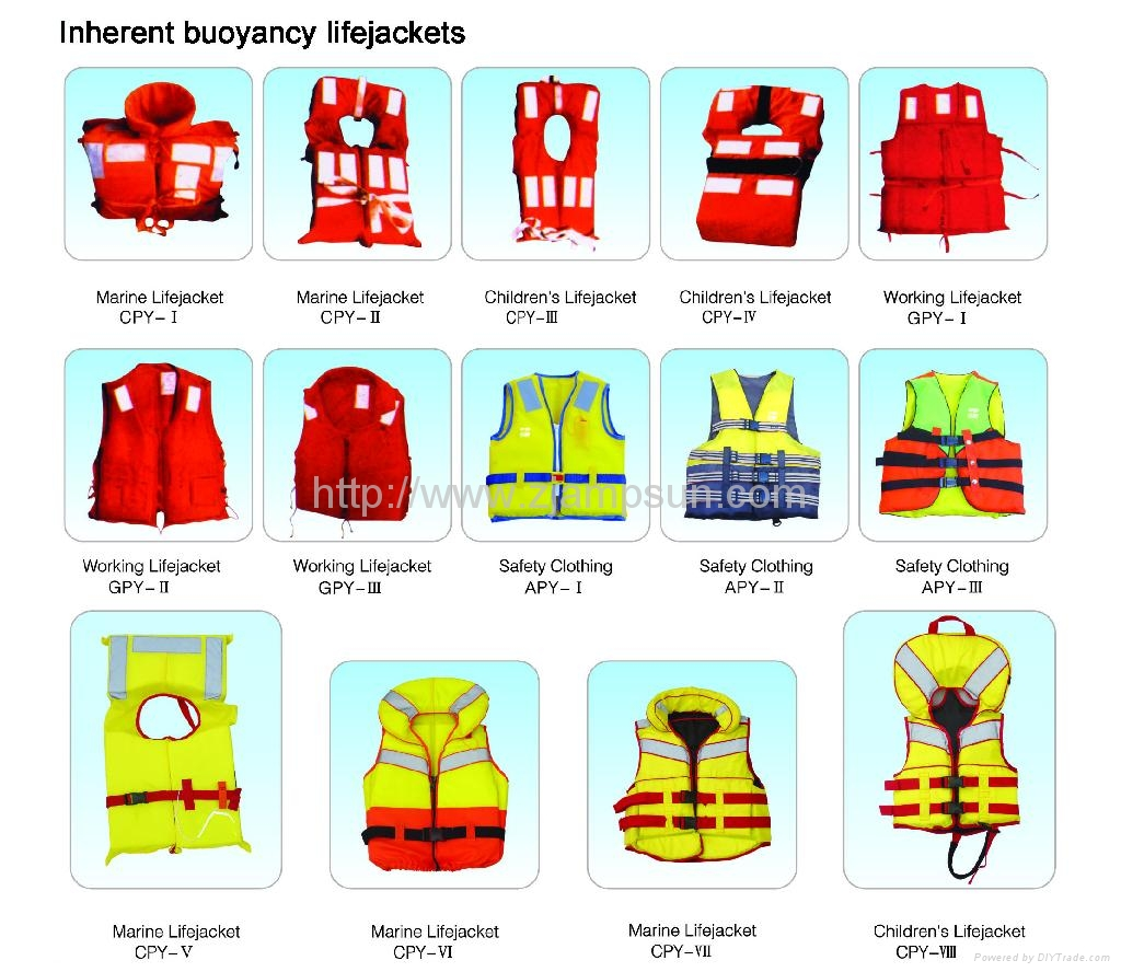 Inherent buoyancy lifejackets