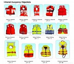 Inherent buoyancy lifejackets