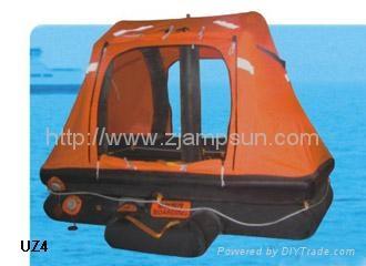 throw over type selfrighting inflatable liferaft for yacht type UZ  1