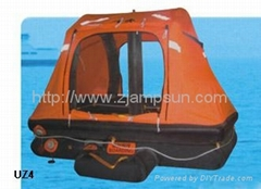 throw over type selfrighting inflatable liferaft for yacht type UZ