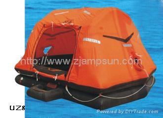 throw over type selfrighting inflatable liferaft for yacht type UZ  2