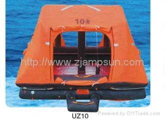 throw over type selfrighting inflatable liferaft for yacht type UZ  3