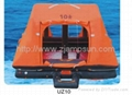 throw-over type self-righting inflatable liferaft for yacht type UZ