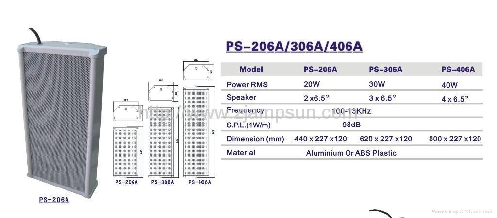 Column speaker PS-206A/306A/406A 2