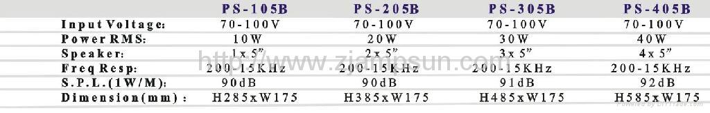 Column speaker PS-105B/205B/305B/405B 2