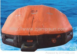 Davit launching/mounting Type Inflatable Liferaft d25 25men  1