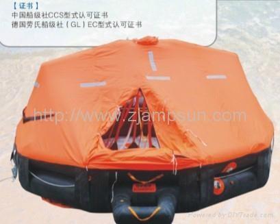 Davit launching/mounting Type Inflatable Liferaft d25 25men  2