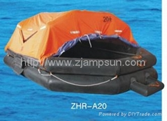 Throw-over Type Inflatable Liferaft Type A20