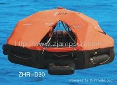 Davit launching/mounting Type Inflatable Liferaft d20