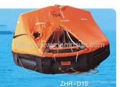 Davit launching mounting Type Inflatable Liferaft d15