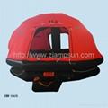 Self righting  inflatable liferaft  balsa salvavidas