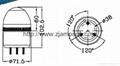 2071Flashing Warning Lamp Alarm light Blink Warning Light 2
