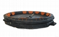50mans throw over type inflatable liferaft  balsa salvavidas