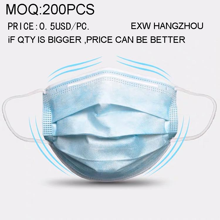 protective mask Disposable face mask 3 ply with earloop