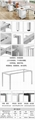 metal office furniture metal frame DF-136