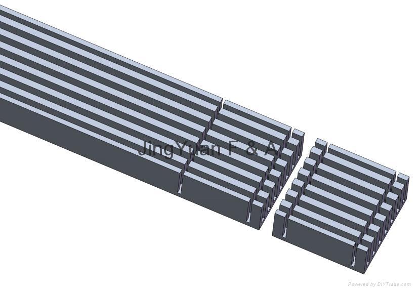 铝型材散热器成型自动切削加工机 2