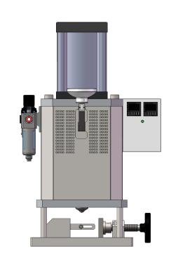 微型氣動人力復合注塑機 1
