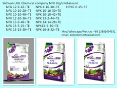 NPK water soluble fertilizer High potassium type
